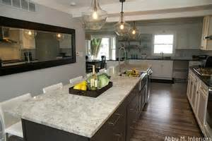 Kitchen Islands With Seating For 3 Colonial White Granite Granite Countertops Slabs Tile