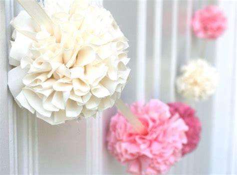 pom pom baby shower pom pom garland fabric garland pink ombre fabric