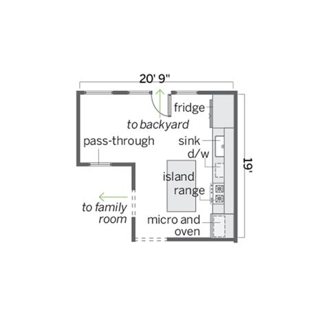 floor plan before cook in a corner kitchen is a food hub made for face time this old house