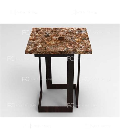 petrified wood end table petrified wood end table unico furnishingcart