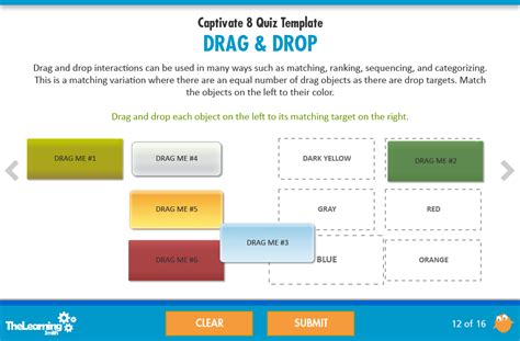 adobe captivate templates free the learning smith captivate 8 quiz template