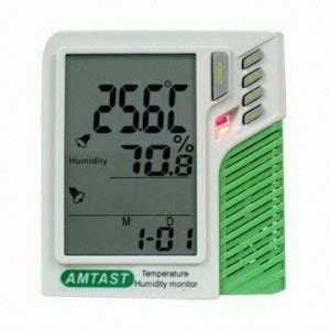 wall mount desktop temp humidity monitor amt207