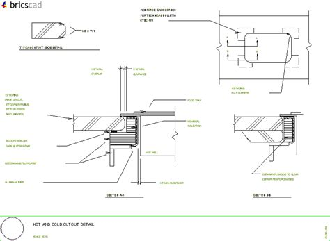 Corian Details Cold Buffet Cutout Construction Detail Aia Cad