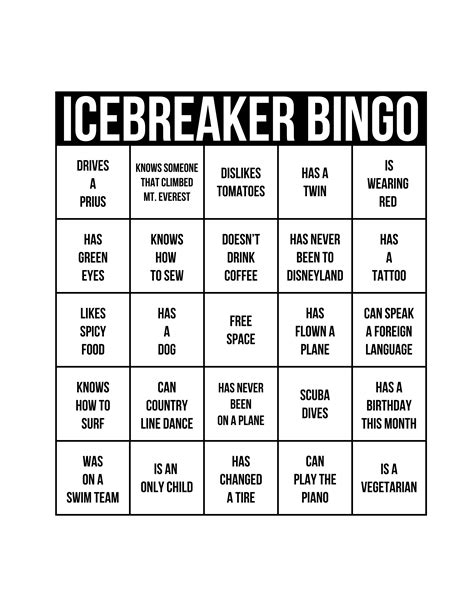 icebreaker template icebreakers the best way to get a started babble