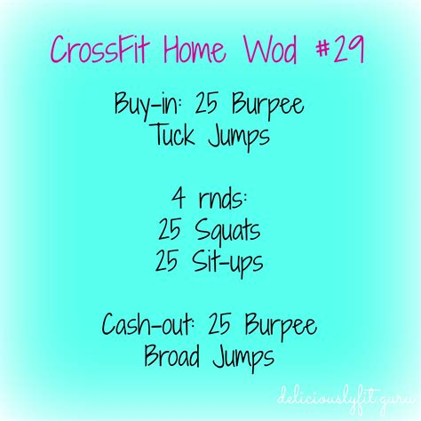 crossfit home wod 29 deliciously fit