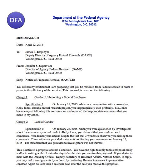 Disciplinary Appeal Letter Format lawyer for federal employees federal employee