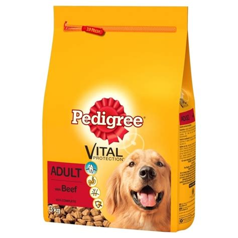pedigree vital protection with beef 3kg feedem