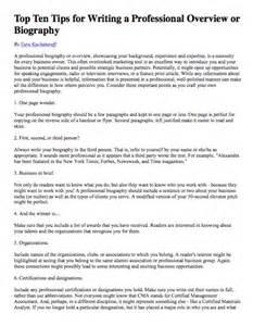 how to write a biographical essay