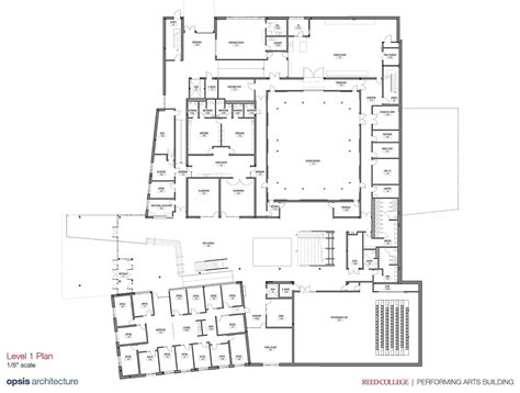 777 Floor Plan by Reed College Performing Arts Building