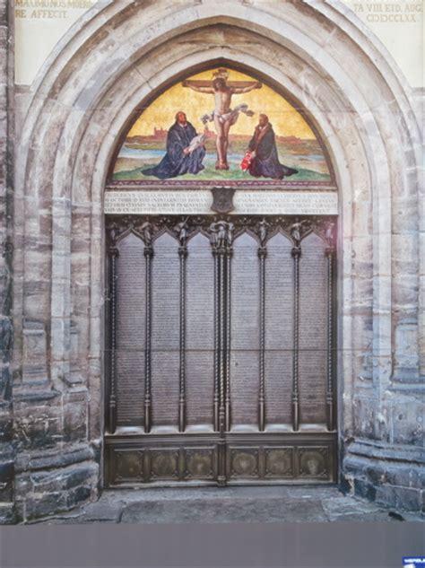Wittenberg Door by Wittenberg Door Martin Luther Hanging His Ninety Five