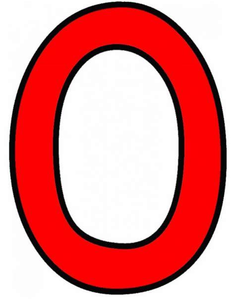 Numero Zero disegno di numero zero a colori per bambini
