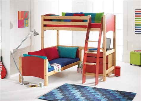 Scallywags Bedroom Furniture Scallywag Convertible L Shape High Sleeper Bunk Bed With Furniture Options Scallywag
