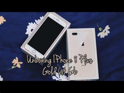 iphone 8 plus unboxing فتح صندوق هاتفي الجديد ايفون 8 بلس الذهبي