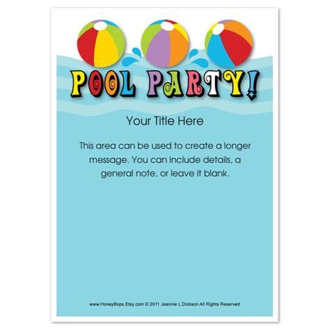 swimming pool invitations templates pool birthday invitations templates free