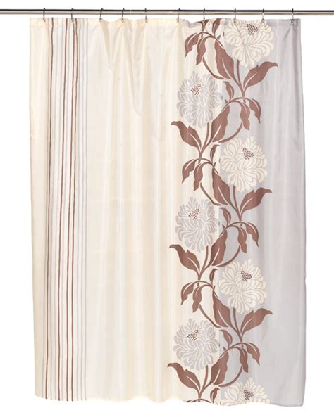 traditional shower curtains quot chelsea quot fabric shower curtain in chocolate traditional