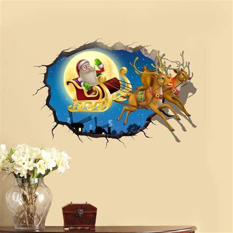 3d Wall Sticker 15328554 pvc 3d santa claus elk car sticker wall decals home 3d wall decor gift