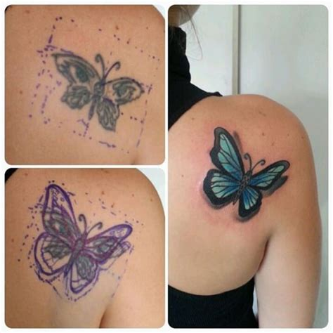Butterfly Tattoo Cover Up Designs | 55 cover up tattoos impressive before after photos