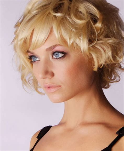 curly hairstyles images short blonde curly hairstyles