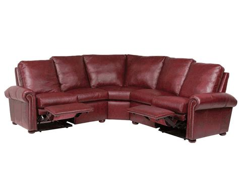 Leather Sectional Sofa With Recliner by Leather Reclining Sectionals American Made