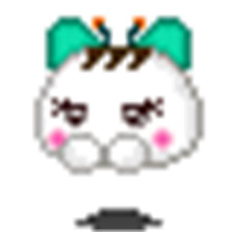 Kaos Ribbon Mouse kaoani kawaii green ribbon 175 176 japanese kaos smiley smilchat anime blobs anikaos puffs