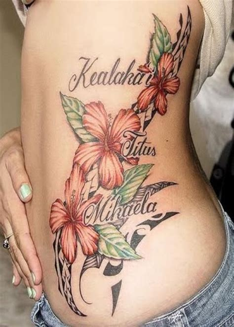 girl name tattoos 25 hibiscus flower designs for 14