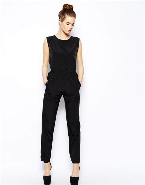Yumico 3 In 1 Jumpsuit oh my jumpsuit with open back in black lyst