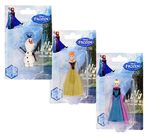 frozen home decor disney frozen mini figurine set of 3 elsa ana olaf