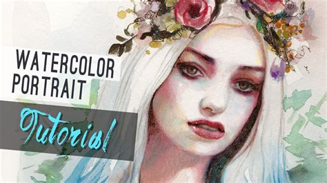 tutorial watercolor watercolor tutorial how to paint a portrait youtube
