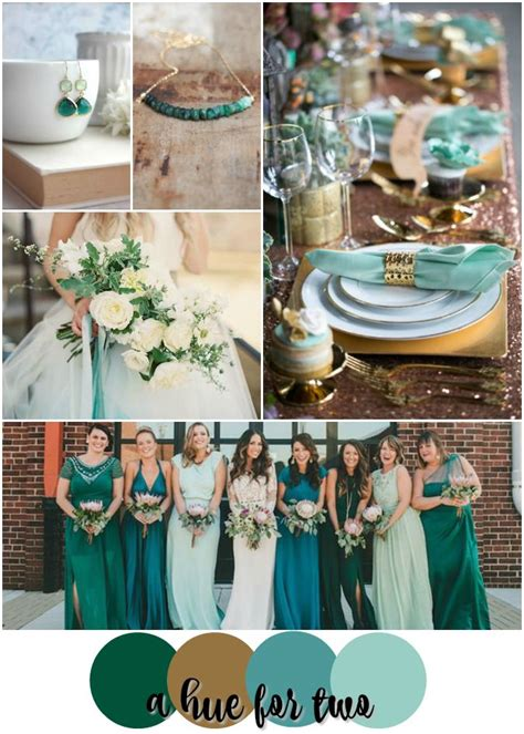 teal wedding colors emerald teal mint and gold wedding color scheme