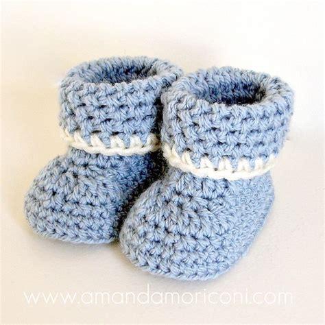 cozy cuffs crochet baby booties pattern pattern by amanda moriconi