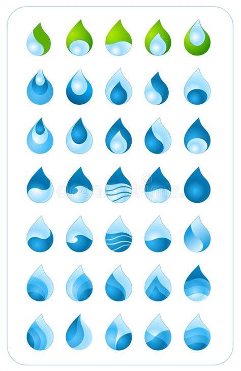 raccolta clipart raccolta della goccia di acqua illustrazione vettoriale