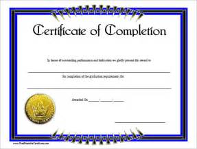Class Completion Certificate Template by Completion Certificate Template 33 Free Word Pdf Psd