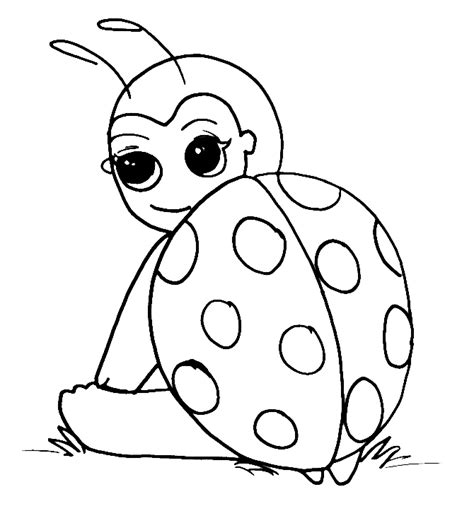 Lady Bug Coloring Pages Barriee Coloring Pages Ladybug