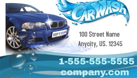 car detailing business card template car wash business card template postermywall