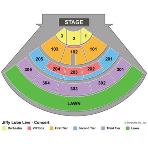 jiffy lube seating chart vipseats jiffy lube live tickets
