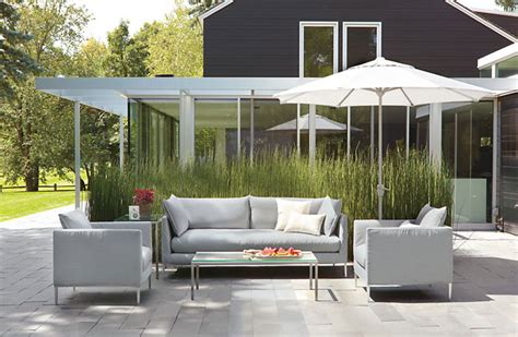 modern outside furniture modern patio furniture that brings the indoors outside