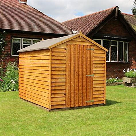 Garden Shed Wooden by 8 215 6 Overlap Wooden Windowless Apex Garden Shed Single