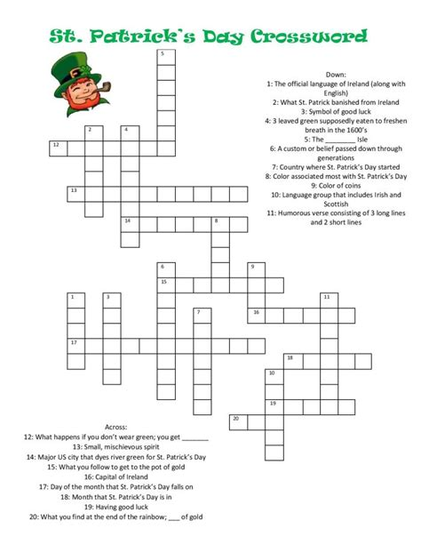 s day puzzle st s day crossword the crafting