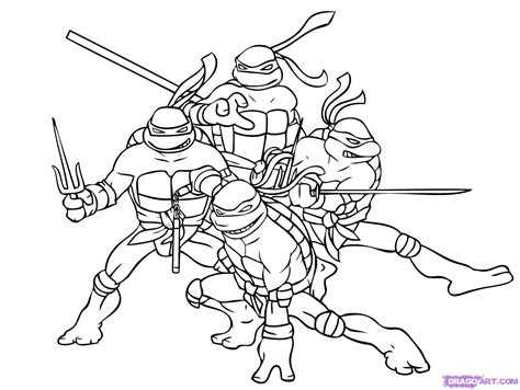 ninja turtle coloring pages free printable pictures