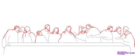 how to the how to draw the last supper step by step pop culture free drawing