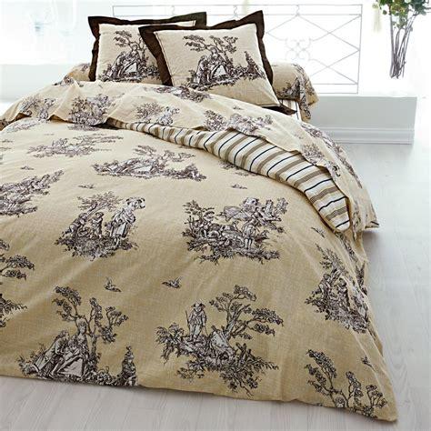 linge de lit toile de jouy ind 233 modable toile de jouy blancheporte linge de maison