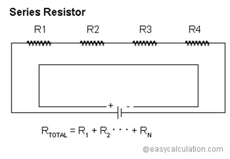 resistors in series calculate series resistor calculator calculate series resistance of electronic circuit