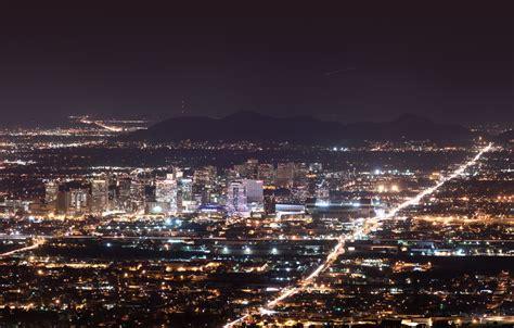 downtown phoenix skyline at night the phoenix arizona