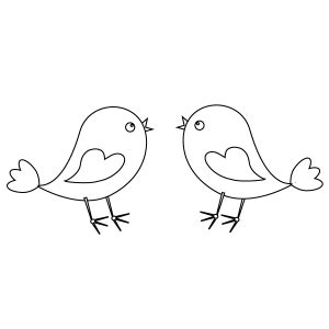 cute bird coloring page for kids free printable picture