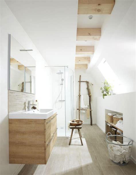 Ordinary Salle De Bain Beige Blanc  #3: Choisir-des-meubles-en-bois.jpg