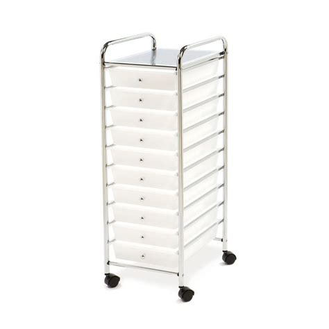Storage Bins With Drawers And Wheels Drawer Storage Cart Clear Crafts Organize Office Home
