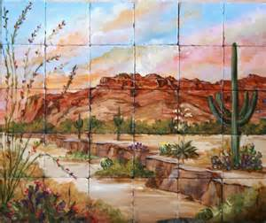 desert southwest tile murals morning mist madaras wall mural southwestern wall