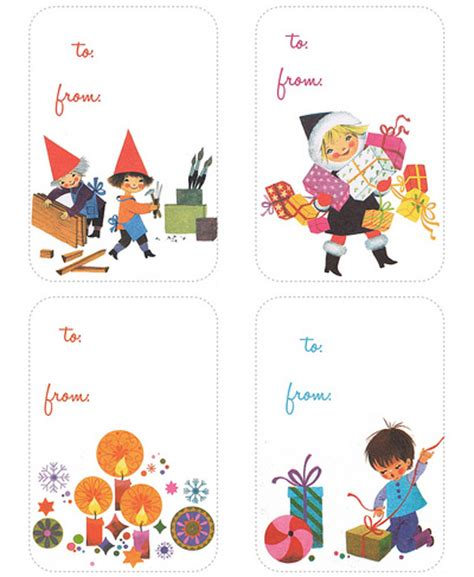 free printable retro christmas gift tags retro printable christmas boxes and tags how about orange
