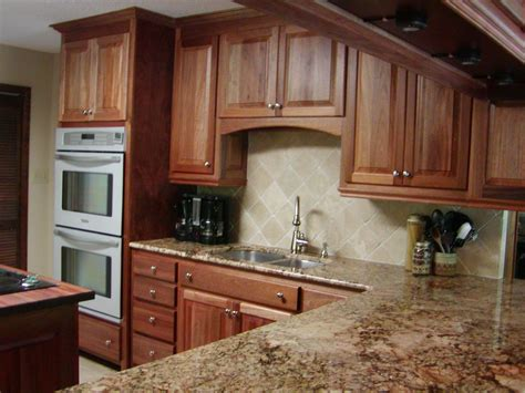 Mahogany Kitchen Cabinets by Light Brown And Grey Mahogany Wood Kitchen Cabinets
