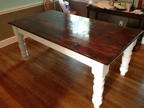 Making Kitchen Island by Customer S First Farm Table Using Osborne Dining Table